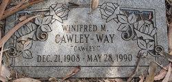 Winifred M Cawley Cawley-Way
