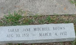 Sarah Jane <i>Mitchell</i> Brown