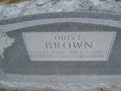 Odis E Brown