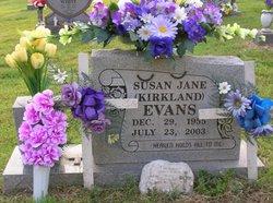 Susan Jane <i>Kirkland</i> Evans