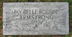May Belle <i>Robbins</i> Armstrong