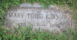 Mary Irene <i>Todd</i> Gibson