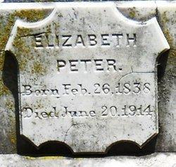 Elizabeth <i>Peter</i> Peter