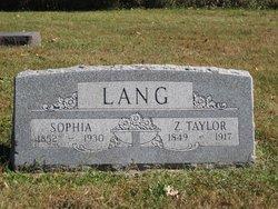 Zachary Taylor Taylor Lang