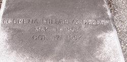 Lucretia <i>Miller</i> Anderson