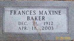 Frances Maxine Baker