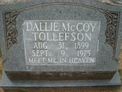 Dallie <i>McCoy</i> Tollefson