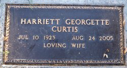Harriett Georgette Curtis