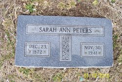 Sarah Ann Peters