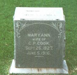 Mary Ann <i>Walker</i> Cook