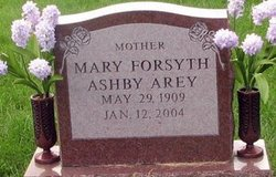 Mary Forsyth <i>Ashby</i> Arey