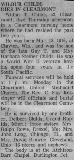 Wilbur Truman Chilie Childs