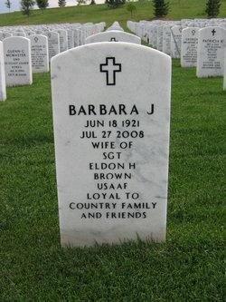 Barbara J Brown