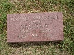Martha Elizabeth Lizzie <i>Hickman</i> Crausbay