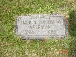 Elsie U. <i>Holmberg</i> Akerman