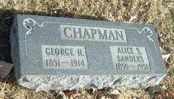 Alice S <i>Sanders</i> Chapman