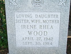 Irene Rhea <i>Sigal</i> Wood