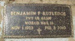 Benjamin F Rutledge