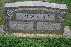 Alice <i>Brown</i> Bowman
