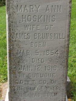Mary A <i>Hoskins</i> Brunskill
