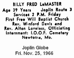 Billy Fred LeMaster
