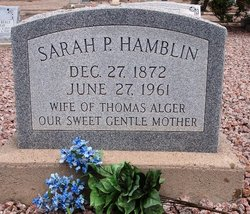 Sarah Priscilla <i>Hamblin</i> Alger