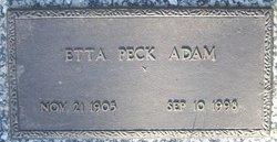Etta <i>Peck</i> Adam
