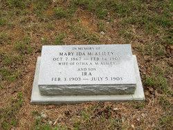 Mary Ann Ida <i>Locke</i> McAliley
