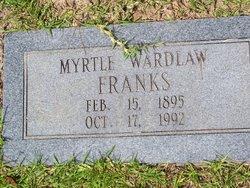 Myrtle Nannette Myrt <i>Wardlaw</i> Franks