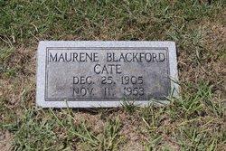 Maurene <i>Blackford</i> Cate
