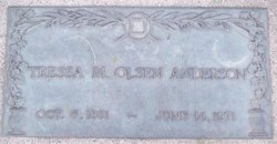 Tressa M <i>Olsen</i> Anderson
