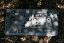 Martha Elizabeth Betty <i>Miles</i> Clary