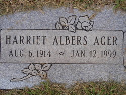 Harriet F <i>Albers</i> Ager