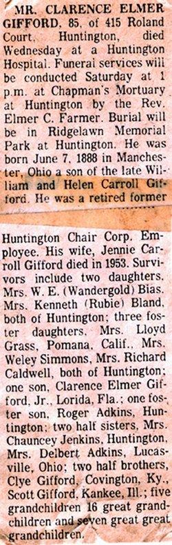 Clarence Elmer Gifford