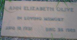 Ann Elizabeth Olive