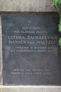 Ustinia Zakharevna <i>Maltzef</i> Hansen