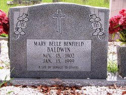Mary Belle <i>Benfield</i> Baldwin