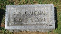 Olive C Ahrman