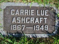 Caroline Lue Carrie <i>Overstreet</i> Ashcraft