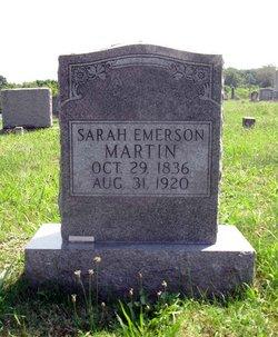 Sarah Catherine <i>Emerson</i> Martin