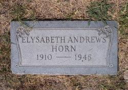 Elysabeth <i>Andrews</i> Horn
