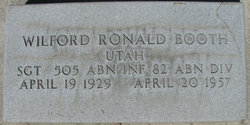 Sgt Wilford Ronald Booth