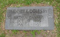 Minnie L. <i>Oglesby</i> Cannon