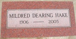 Mildred Viola <i>Wallace</i> Dearing Hake