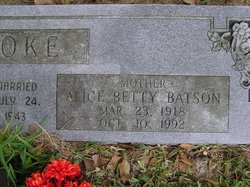 Alice Betty <i>Batson</i> Hoke