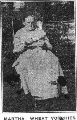Martha E <i>Wheat</i> Voorhies