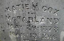 Catherine May Katie <i>Cox</i> McFarland