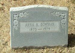 Anna K Bowman