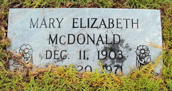 Mary Elizabeth McDonald