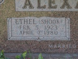 Ethel Irene <i>Shook</i> Alexander